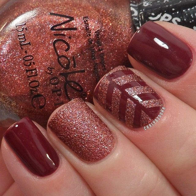 25+ unique Fall nail designs ideas on Pinterest | Fall nails, Nail designs  for fall and Fall nail art - 25+ Unique Fall Nail Designs Ideas On Pinterest Fall Nails, Nail