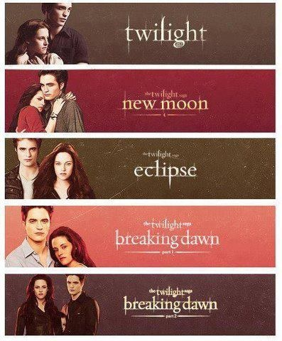 all 5 twilight movie banners movies and books