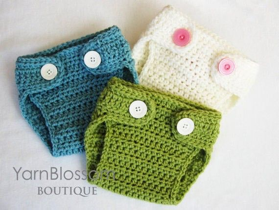 free crochet pattern for baby diaper cover | CROCHET Baby PATTERN Diaper Cover with BONUS Pom-Pom bunny/bear tail ...