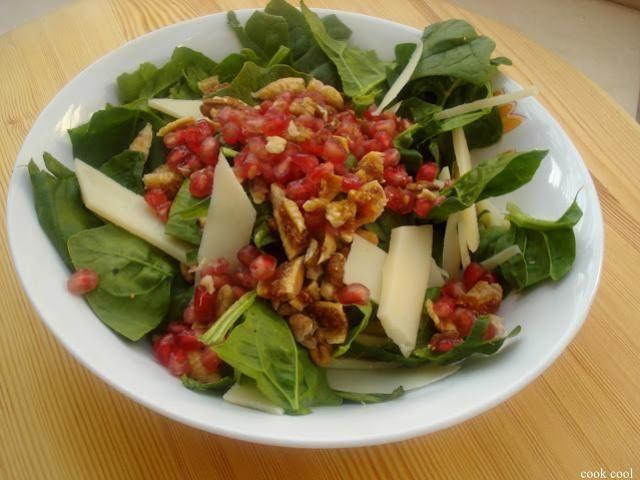 Σαλάτα με σπανάκι και ρόδι