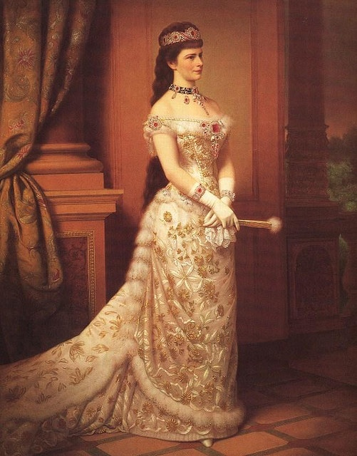 Sissi at 42...Queen of Hungary and Empress of Austria. Painting by Georg Raab (1879)