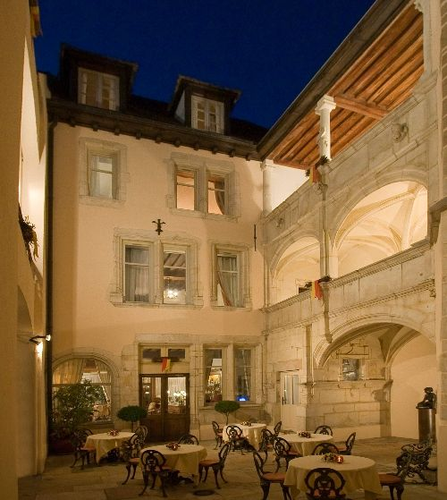 Hotel Le Cep in Beaune—On Travel + Leisure's 500 Best Hotels list for three years. Stay here for 2 nights when you travel in #Burgundy with VBT. #Hotels #France