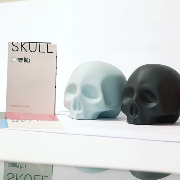 Skull-money box