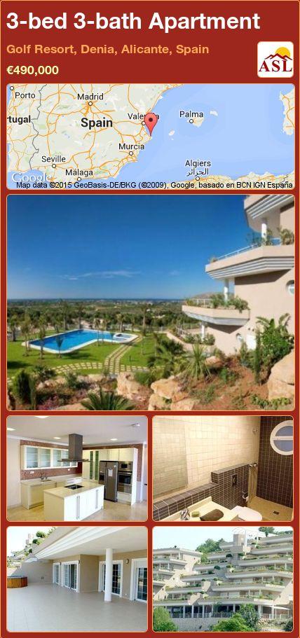 3-bed 3-bath Apartment in Golf Resort, Denia, Alicante, Spain ►€490,000 #PropertyForSaleInSpain