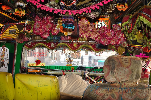Rocket Bus interior by Asif Saeed via Flickr - Pakistan