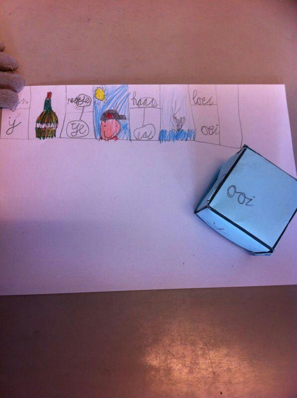 Spellingscategorieën oefenen: Dobbelsteen vouwen, wat wil je oefenen?, gooien, tekening maken en het woordje schrijven!