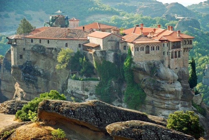 Здесь захватывает дух! Монастыри Метеоры Греция