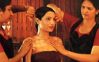 This therapy is a beautiful combination of two classical Ayurvedic treatments, Snehana (oleation) and Swedana (sudation). The whole body is bathed in streams of lukewarm medicated oil with simultaneous soft massage. Three therapists attend to the client, focusing on their particular needs. More than three liters of relaxing, medicated oil is used in this therapy. Pizhichil protects the body from illnesses and builds up immunity for a healthy life.