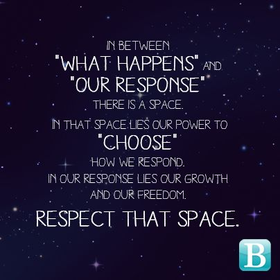Respect the space...
