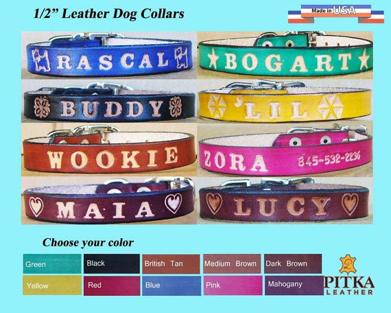 Free shipping in USA - Puppy Collar - Cute Puppy Collars -  Personalized Puppy…