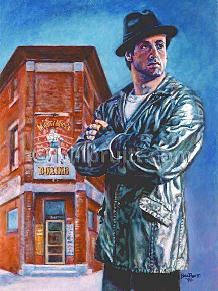 Sylvester Stallone Rocky Balboa Rocky 5 art print 12x16 signed and dated Bill Pruitt #RockyBalboa #RockyGym