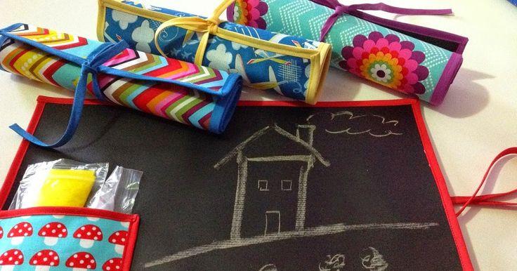 Pizarras infantiles - 25 x 35 cm En un par de ratos y con unas telas llamativas se pueden hacer estas pizarras para niñ@s. Hací...