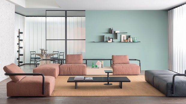 Décor do dia: sala de estar escultural e com candy colors (Foto: divulgação)
