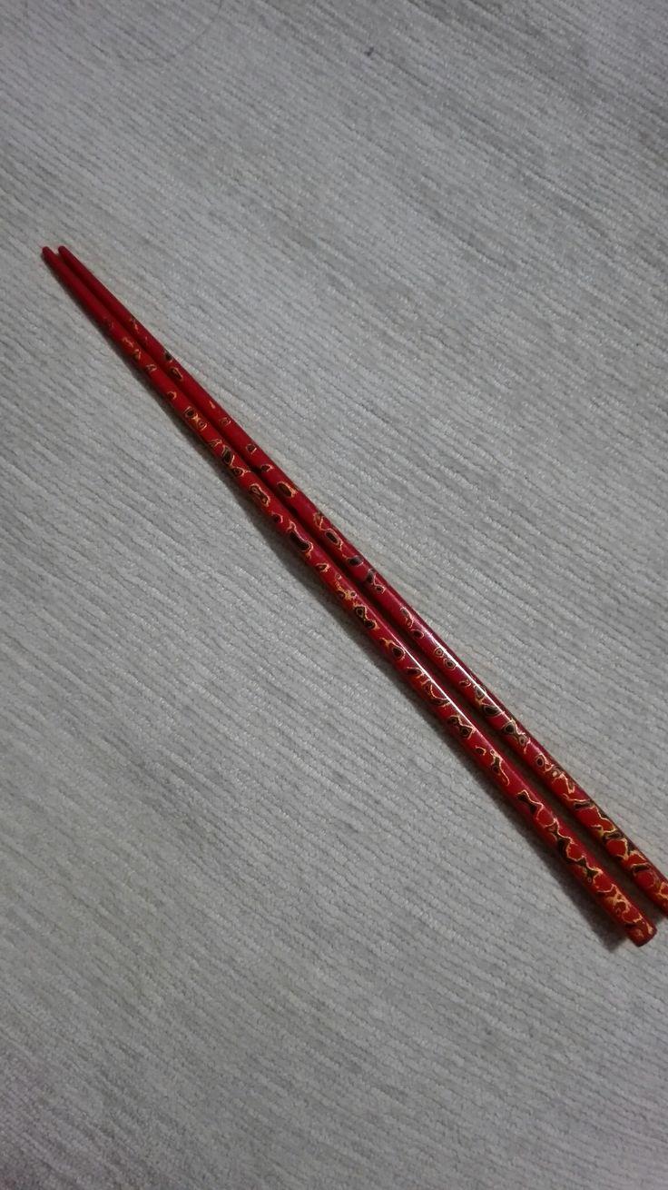 [P] 津軽塗のお気に入りのお箸。どうしても欲しくて買ってもらったやつ