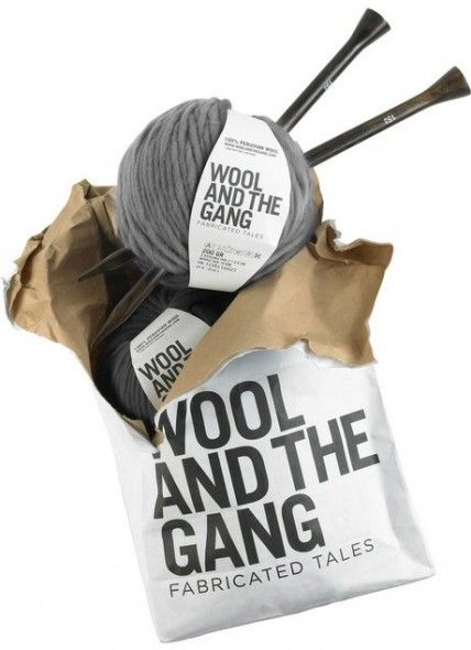 logo, packaging and yarn by Wool and the Gang