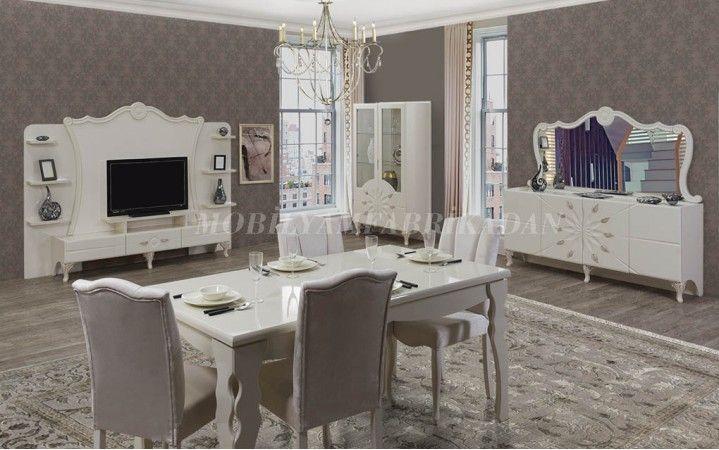 Özel bir tasarım olan leylak yemek odası takımı farklı tarzı ile salonlarınıza ihtişam katacak.#mobilya #inegöl #klasik #masa #dekorasyon #tasarım #yaşam