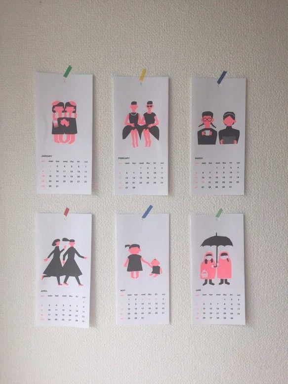 2017CALENDAR|カレンダー|小関祥子|ハンドメイド通販・販売のCreema