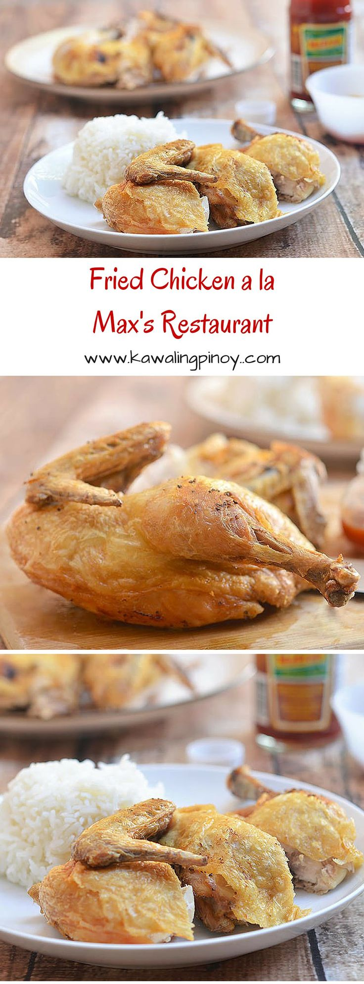 Fried Chicken a la Max's Restaurant is a delicious copycat recipe of the iconic Max's Fried Chicken. Crisp, juicy and flavorful, it's delicious to the bone! via @lalainespins