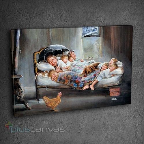 Klasikleşmiş bu kanvas tablo ile mutluluğu iliklerine kadar hisset.