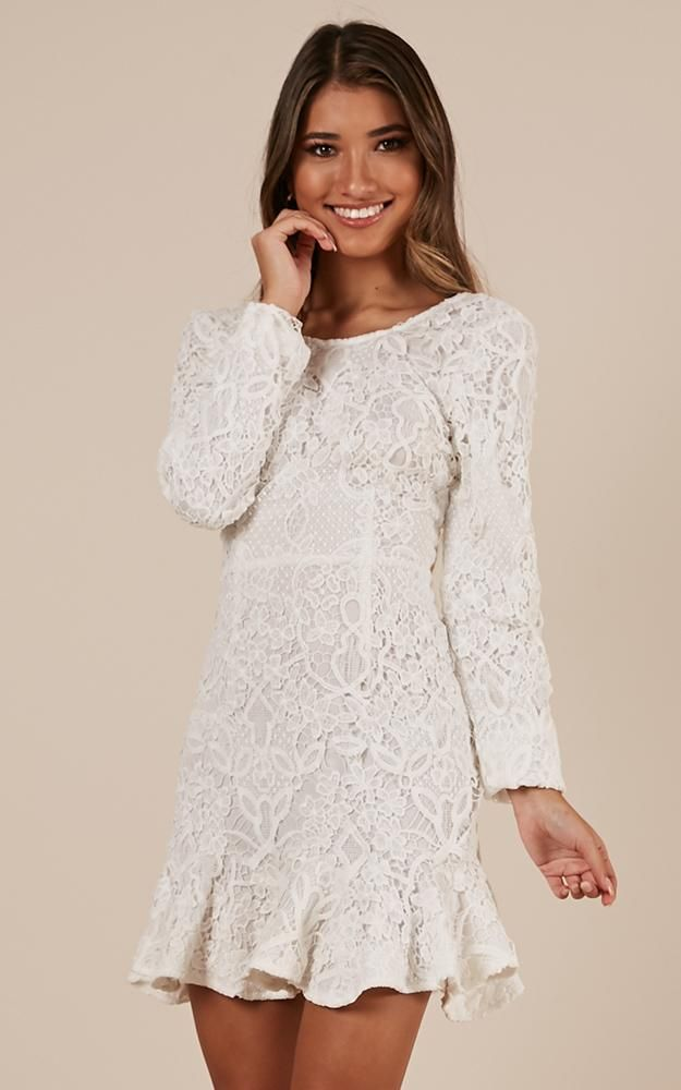 752f130f945 Courtesy Of Love Dress In White Lace Produced in 2019