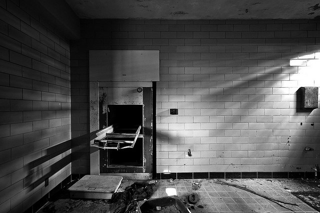 Abandoned TB Hospital  Built 1946 in Paris, KY. Seriously creepy place. This is the morgue.