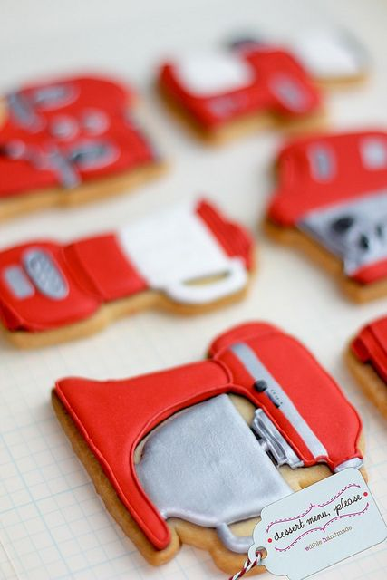 Red Kitchen Aid cookie, wow!