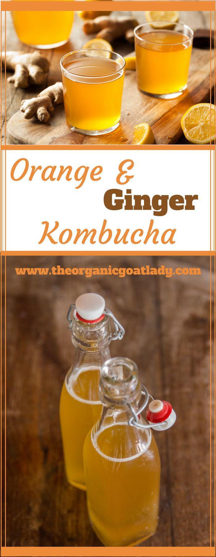 Orange and Ginger Kombucha