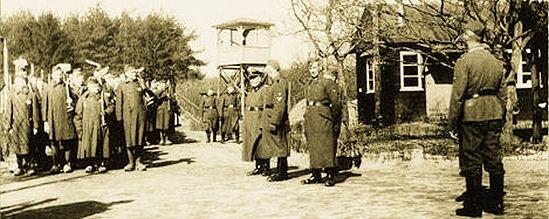 Political prisoners in concentration camp Amersfoort.