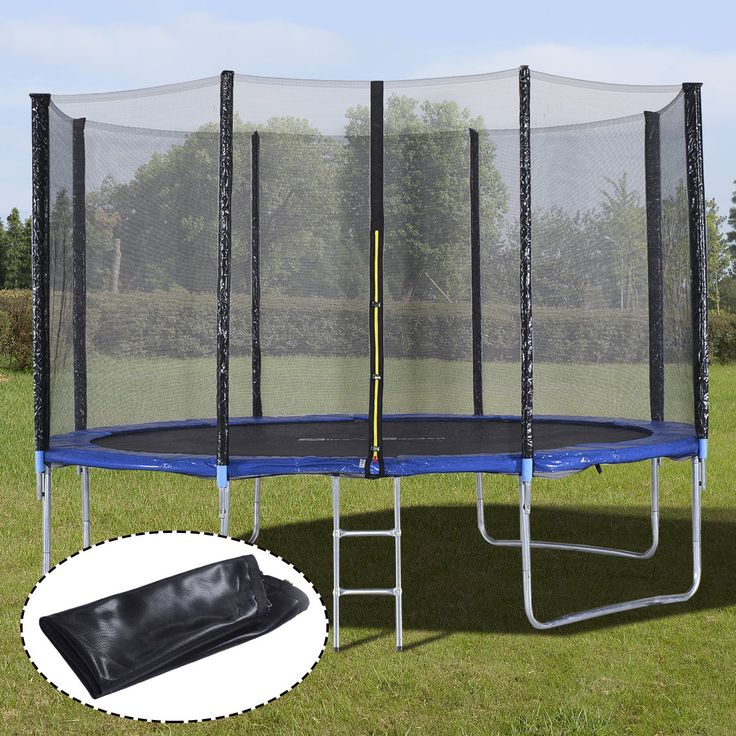 12FT Trampoline Combo Bounce Jump Safety Enclosure Net W/Spring Pad Ladder