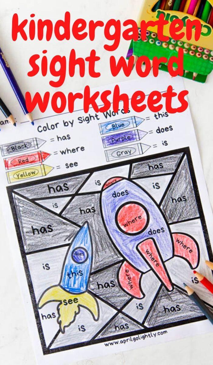 Kindergarten Sight Word Coloring Sheets Sight Words Kindergarten Sight Word Coloring Sight Word Worksheets [ 1200 x 700 Pixel ]