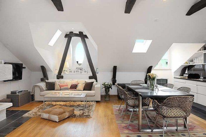 attic apartment on adventurous design quest, by EklundDesign Inspiration, Attic Apartments, House Ideas, Attic Spaces, Attic Room, Attic Ideas, Attic Redo, Attic Addition, Loftis Ideas