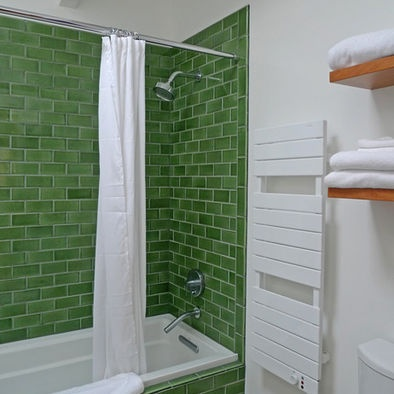 """Fireclay Tile """"kelp"""". Would be a good backsplash too!!! Would be good in our John Deere  bathroom (don't ask)"""