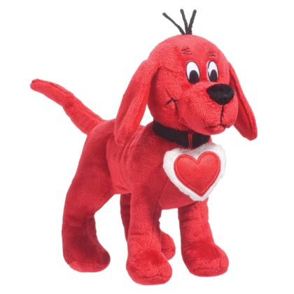 clifford valentines day coloring page