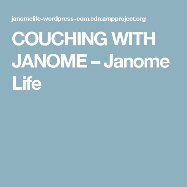 COUCHING WITH JANOME – Janome Life