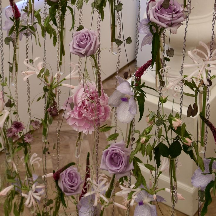 Floral screen at Chelsea Flower Show 2016