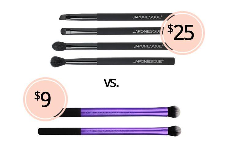 Eyeshadow Brush Dupes: Japonesque Velvet Touch Eye Brush Set vs. Real Techniques Eye Shade + Blend Brush Set