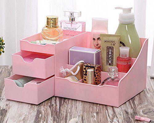 HOYOFO Multifunktions Kunststoff Desktop-Schublade Schmuck Organizer Sortierung kosmetisches Aufbewahrungsbeh�lter