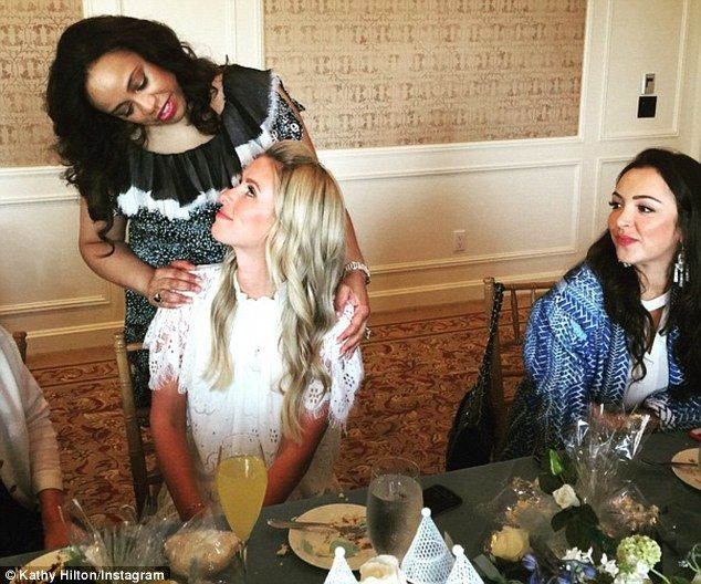 Hostess: Nicky's lavish shower was hosted by Brenda Richie - Lionel Richie's first wife an...