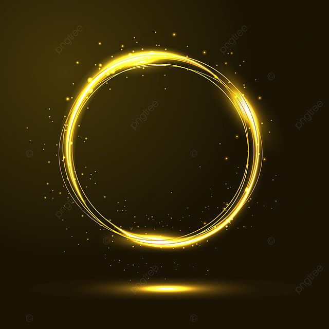 Gold Circles Light Frame Vector With Glitter Particles Gold Glitter Light Png And Vector With Transparent Background For Free Download Circle Light Picture Frame Designs Circle Frames