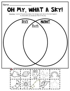 Day and Night Sky Picture Sort (Venn Diagram ...