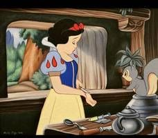 Teve um dia que a personagem entrou em desespero total e resolveu cortar os próprios pulsos. O esquilo só ficou olhando