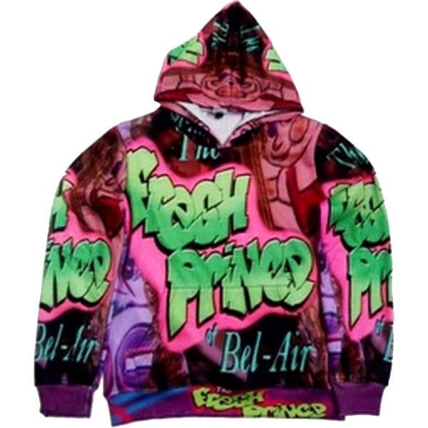 Fresh Prince Hoodie | TheStruggleApparel ($2) ❤ liked on Polyvore featuring tops, hoodies, shirts, sweatshirts hoodies, hooded sweatshirt and hooded pullover