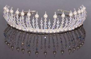 Handmade elegant 'Diana' tiara by Confettiandlove on Etsy
