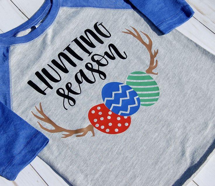 Boys Hunting Season Tee/Boys Easter Tee/Toddler Easter Shirt/Toddler Easter Baseball Tee/Hunting Season Baseball Tee/Boys Raglan by LittlestCreationsCo on Etsy