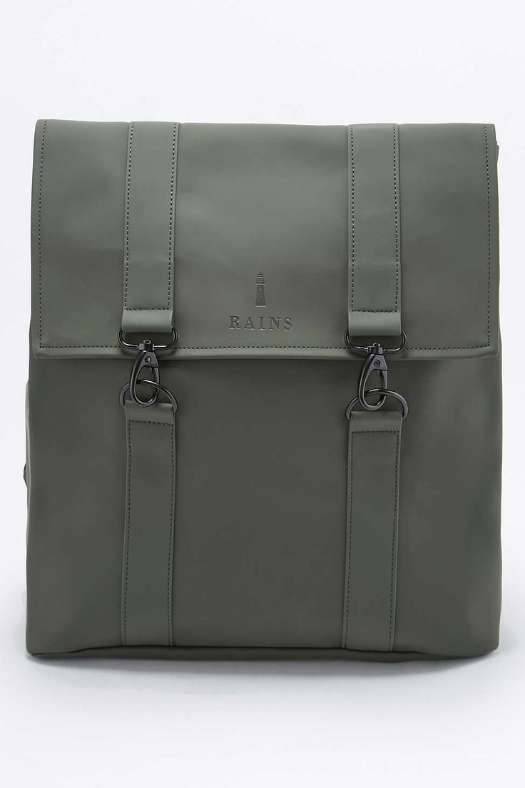 Rains Messenger Green Backpack