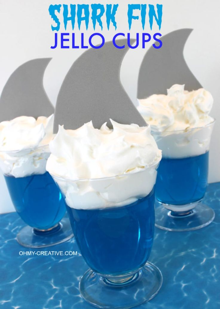 Shark jello cups