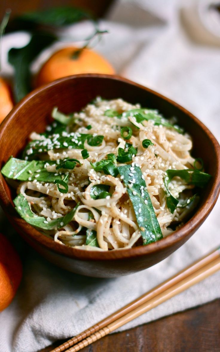 Ginger & Mandarin Orange Noodle Bowls: