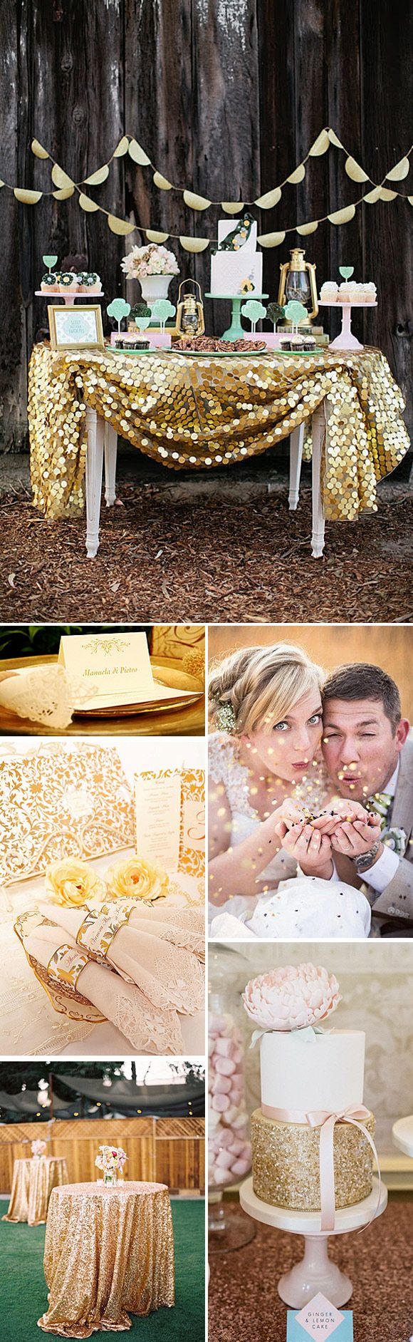 Tendencias para las bodas de 2015: Brillos y purpurina