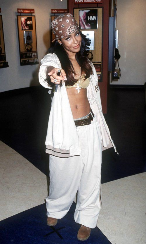 Aaliyah - You make the clothes.  Doesn't matter what you were.  Make a statement with your mouth closed.  (You will always be remembered.
