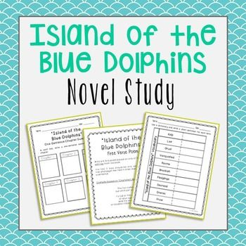 best island of the blue dolphins activities images  island of the blue dolphins novel unit study activities book companion